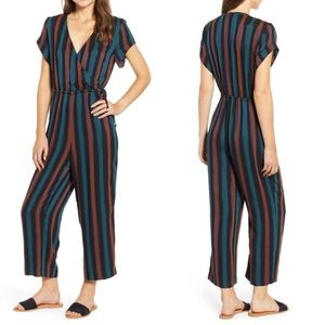 Madewell Striped Wrap Short Sleeve Jumpsuit 12